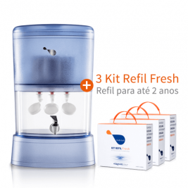Combo Habitah Fresh 10L Self + 3 Kit Refil Fresh extra